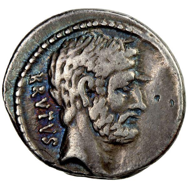ROMAN REPUBLIC: M. Junius Brutus, AR denarius (4.00g), Rome, 54 BC. VF