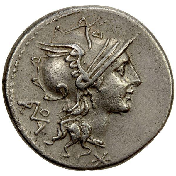 ROMAN REPUBLIC: T. Didius, AR denarius (3.90g), Rome. EF