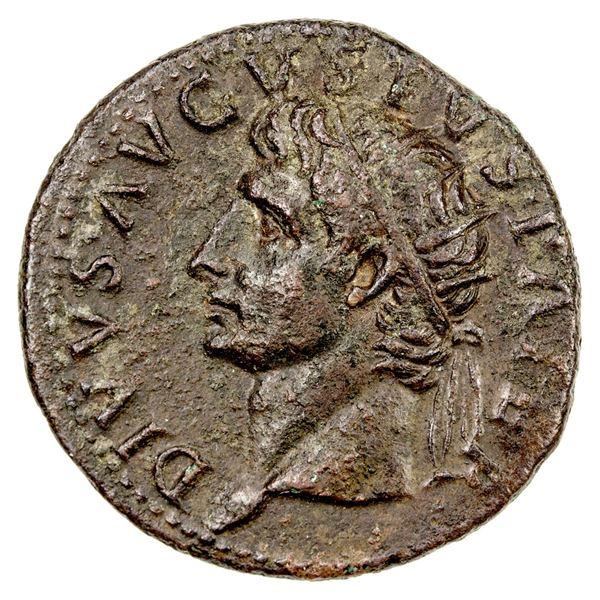 ROMAN EMPIRE: Divus Augustus, AE as (11.18g), Rome, 22-30 AD. VF
