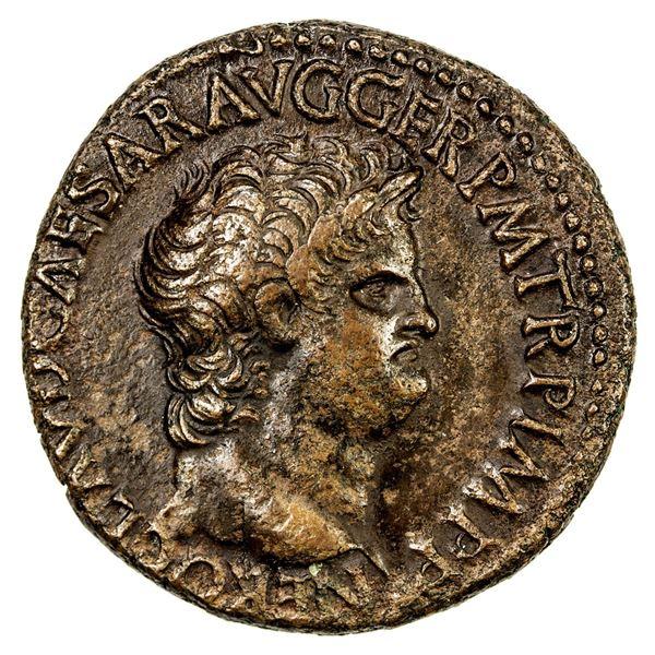 ROMAN EMPIRE: Nero, 54-68 AD, AE as (12.85g), Rome, 62-68 AD. VF-EF