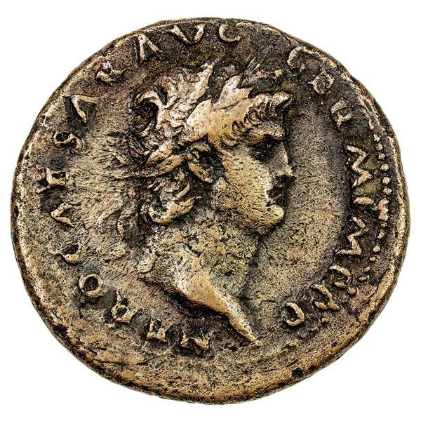ROMAN EMPIRE: Nero, 54-68 AD, AE as (12.29g), Rome, 62-68 AD. VF