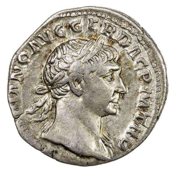 ROMAN EMPIRE: Trajan, 98-117 AD, AR denarius (3.58g), Rome, 103-111 AD. VF