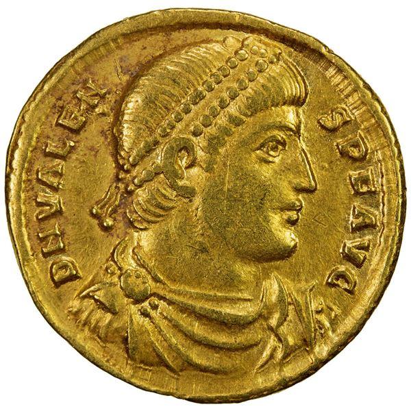 ROMAN EMPIRE: Valens, 364-378 AD, AV solidus (4.36g), Antioch. VF-EF