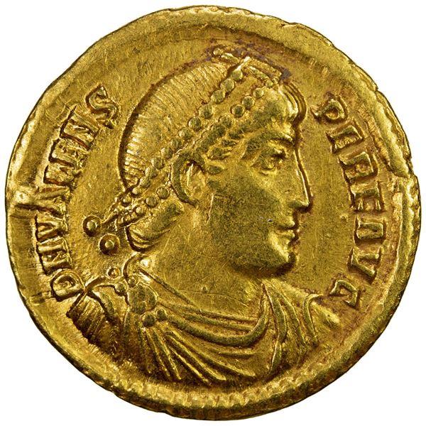 ROMAN EMPIRE: Valens, 364-378 AD, AV solidus (4.43g), Antioch. VF
