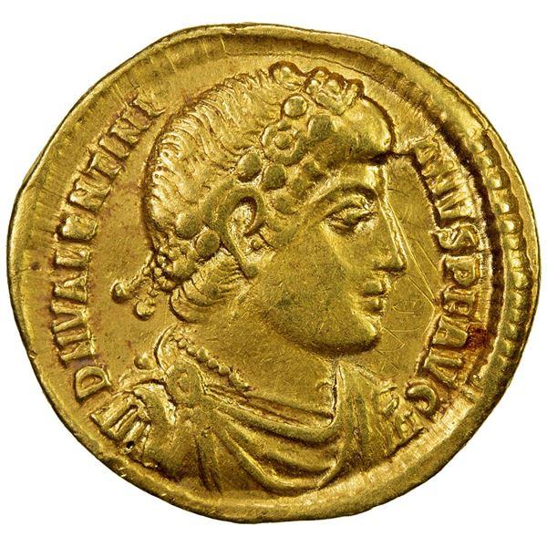 ROMAN EMPIRE: Valentinian I, 364-375 AD, AV solidus (4.47g), Antioch. VF