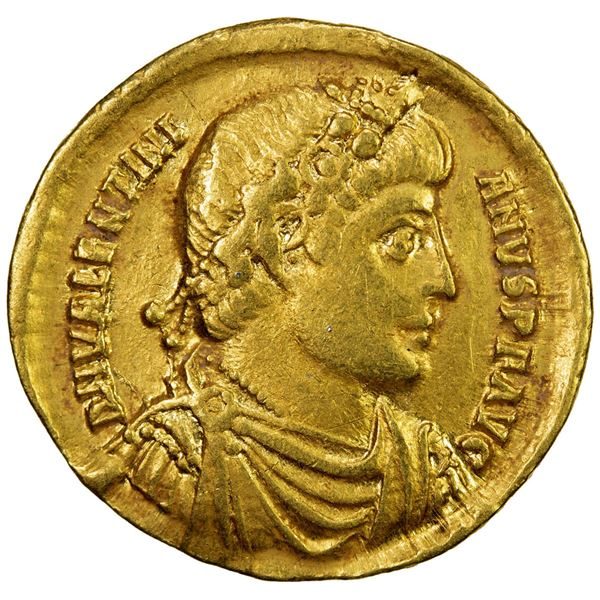 ROMAN EMPIRE: Valentinian I, 364-375 AD, AV solidus (4.33g), Antioch. VF