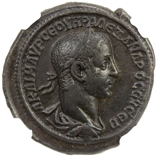ROMAN PROVINCIAL: EGYPT: Severus Alexander, 222-235 AD, potin tetradrachm (13.37g), Alexandria, year