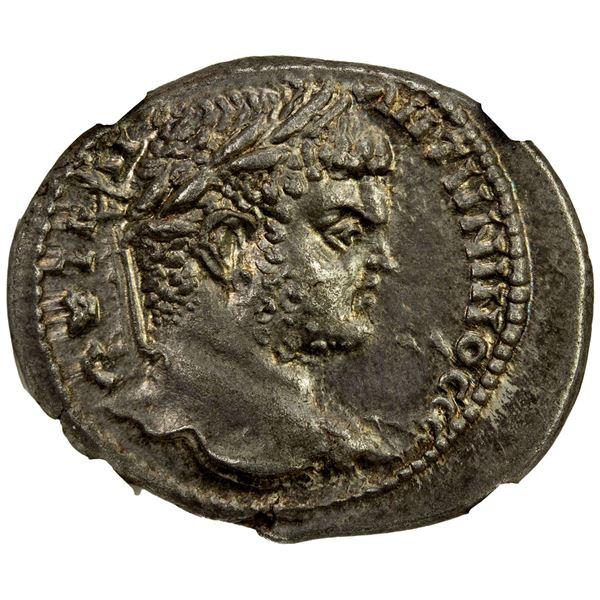 ROMAN PROVINCIAL: SYRIA: Caracalla, 198-217 AD, BI tetradrachm (11.37g), Damascus, 215-217 AD. NGC A