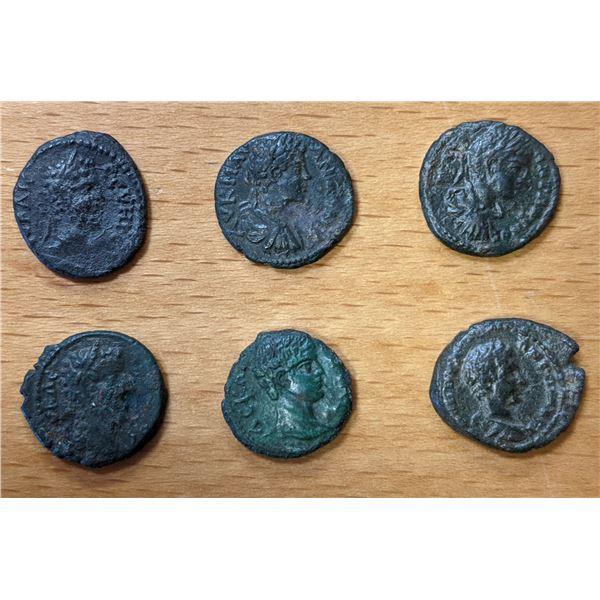 ROMAN PROVINCIAL: LOT of 6 better Severan bronzes from Nicopolis ad Istrum