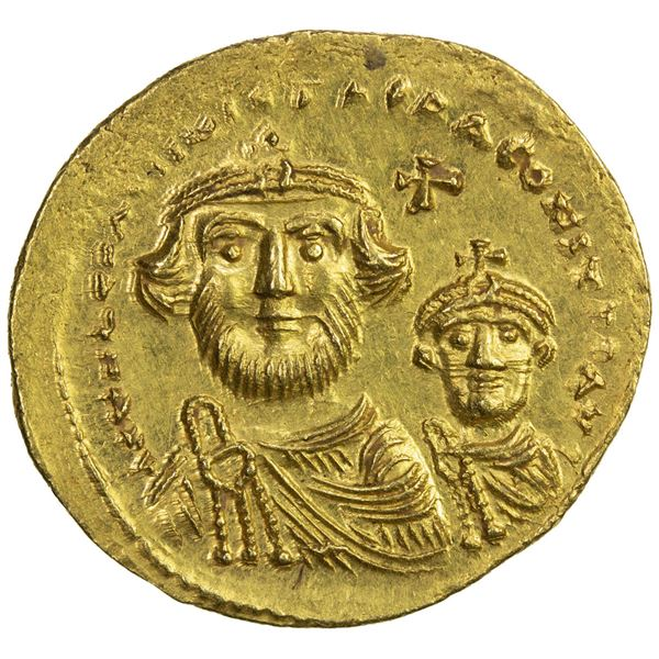 BYZANTINE EMPIRE: Heraclius, 610-641, AV solidus (4.48g), Constantinople. AU