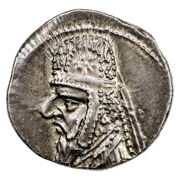 PARTHIAN KINGDOM: Mithradates II, 123-88 BC, AR drachm (4.14g), Rhagai. EF-AU