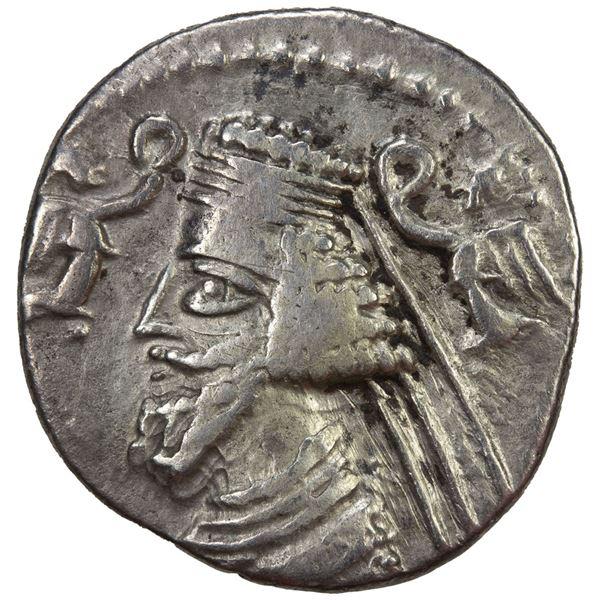 PARTHIAN KINGDOM: Phraatakes & Musa, 2 BC - 4 AD, AR drachm (3.48g). F-VF
