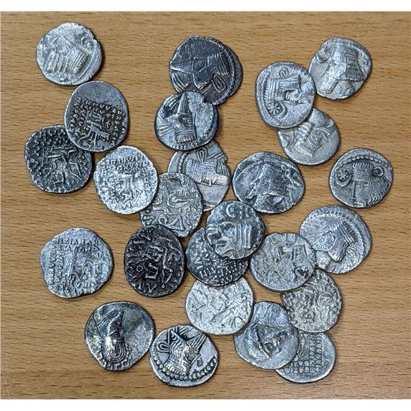 PARTHIAN KINGDOM: LOT of 25 silver drachms