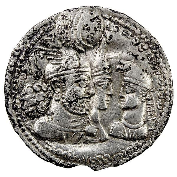 SASANIAN KINGDOM: Varhran II, 276-293, AR drachm (3.58g). VF-EF