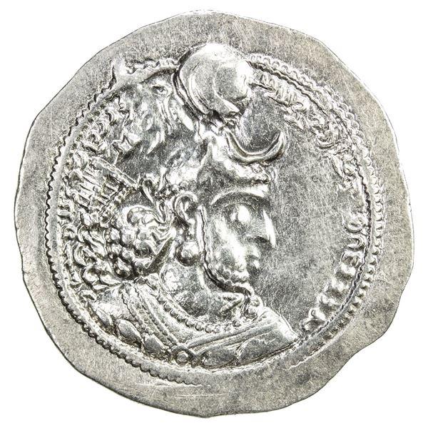 SASANIAN KINGDOM: Yazdigerd I, 399-420, AR drachm (4.13g), DA (Darabjird). EF-AU