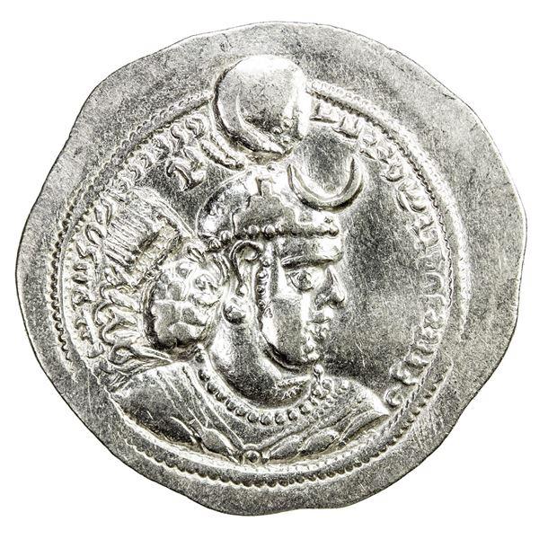 SASANIAN KINGDOM: Yazdigerd I, 399-420, AR drachm (4.08g), DA + GW. EF-AU