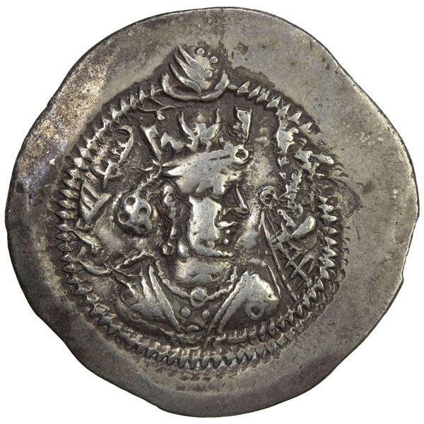 SASANIAN KINGDOM: Zamasp, 497-499, AR drachm (3.97g), KR (Kirman), year 3. VF