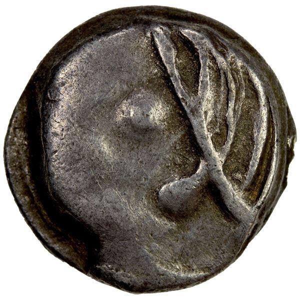DAHAE (EARLY SCYTHIAN): Anonymous, ca. 1st century BC, AR drachm (3.63g). VF