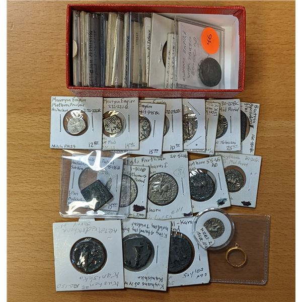 ANCIENT: LOT of 44 coins and a gold ring
