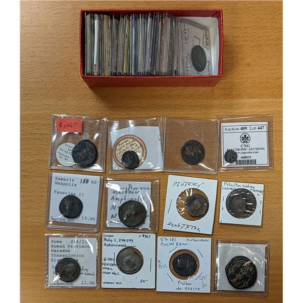 ANCIENT: LOT of 54 Roman Imperial, Provincial & Byzantine coins