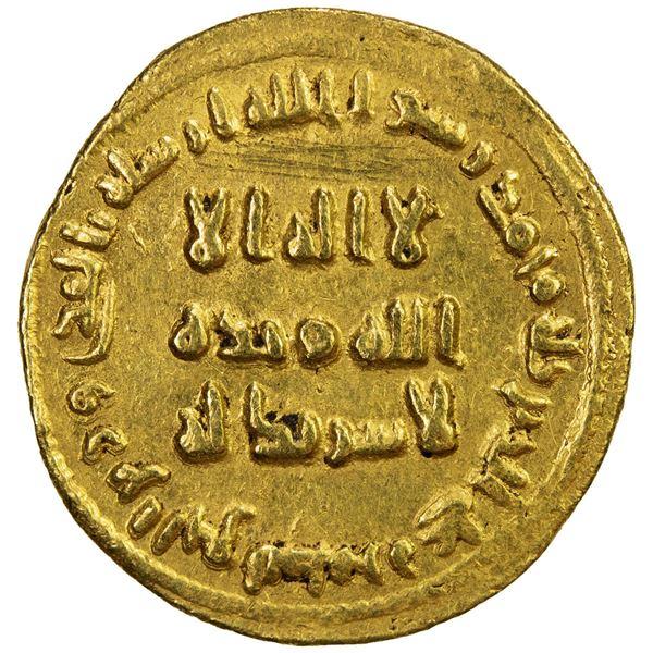 UMAYYAD: 'Abd al-Malik, 685-705, AV dinar (4.26g), NM (Dimashq), AH78. EF-AU