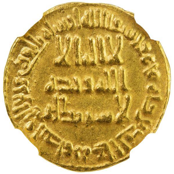 UMAYYAD: al-Walid I, 705-715, AV dinar (4.25g), NM (Dimashq), AH96. NGC MS62