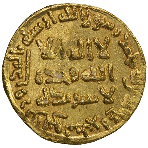 ABBASID: al-Mansur, 754-775, AV dinar (4.26g), NM, AH138. EF