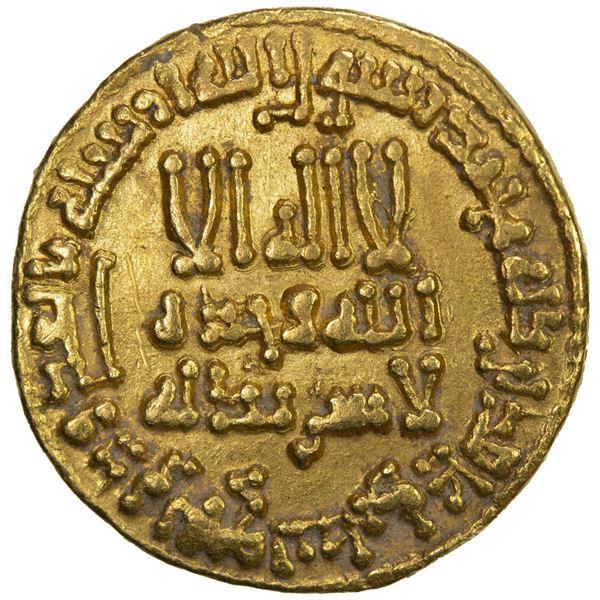 ABBASID: al-Rashid, 786-809, AV dinar (4.23g), NM (Madinat al-Salam), AH190. EF