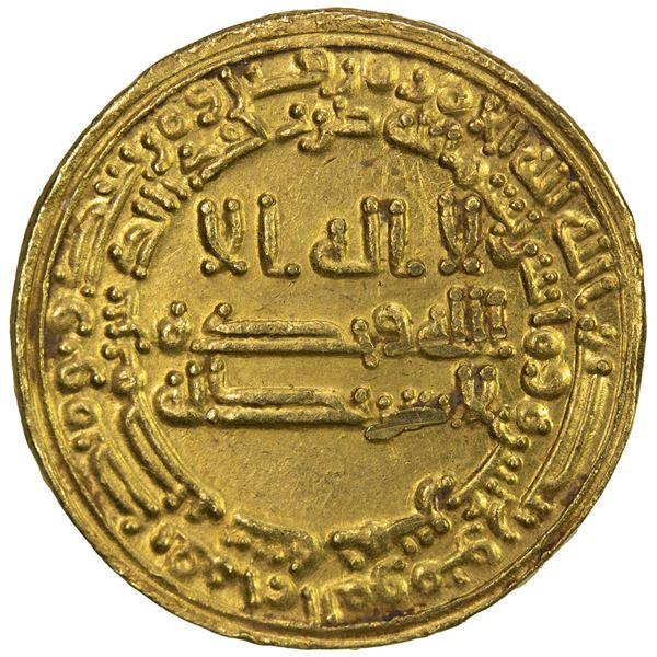 ABBASID: al-Ma'mun, 810-833, AV dinar (4.20g), Misr, AH215. EF-AU