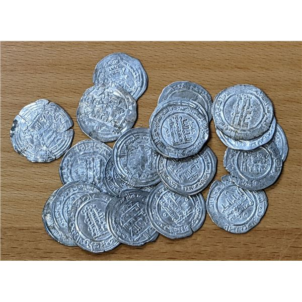 UMAYYAD OF SPAIN: LOT of 20 silver dirhams