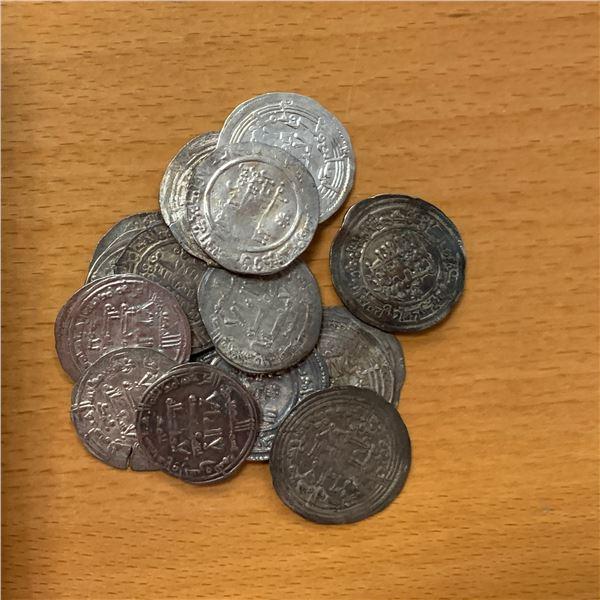 UMAYYAD OF SPAIN: LOT of 15 silver dirhams of 'Abd al-Rahman III