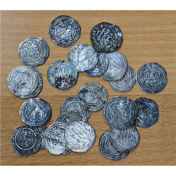 UMAYYAD OF SPAIN: LOT of 23 silver dirhams