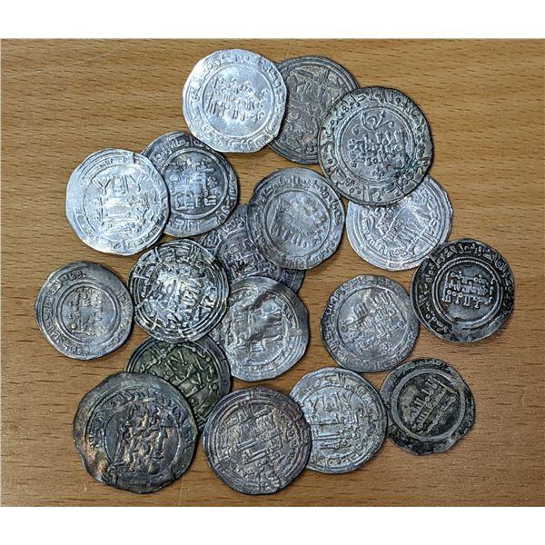 UMAYYAD OF SPAIN: LOT of 18 silver dirhams of 'Abd al-Rahman III