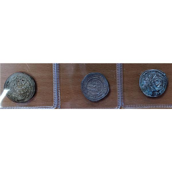 UMAYYAD OF SPAIN: LOT of 3 silver dirhams