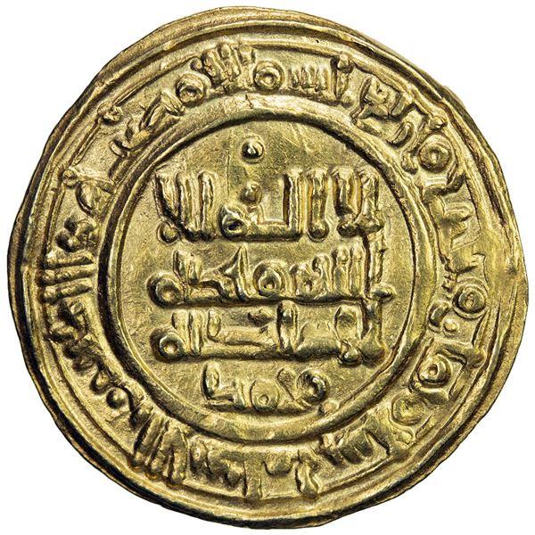 ABBADID OF SEVILLE: al-Mu'tadid 'Abbad, 1042-1069, AV dinar (3.82g), al-Andalus, AH438. EF