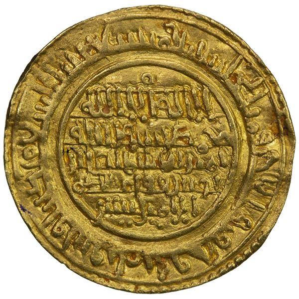 ALMORAVID: 'Ali, 1106-1142, AV dinar (4.05g), al-Mariya (Almería), AH529. VF