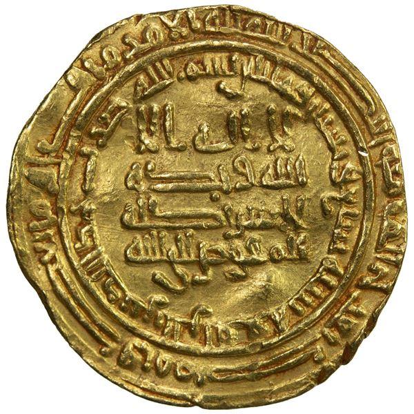 TULUNID: Ahmad b. Tulun, 868-884, AV dinar (3.61g), al-Rafiqa, AH267. VF-EF