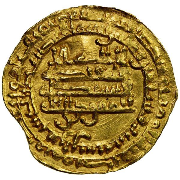 TULUNID: Khumarawayh, 884-896, AV dinar (3.27g), Harran, AH276. EF