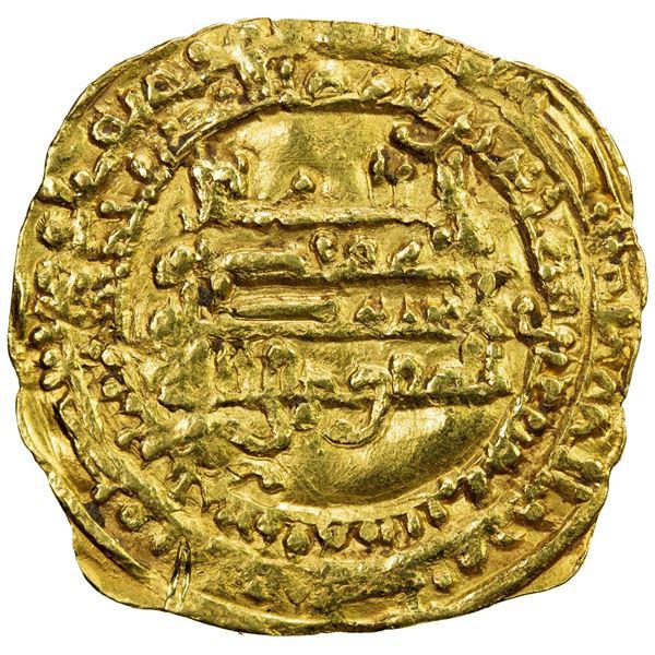 TULUNID: Khumarawayh, 884-896, AV dinar (3.37g), Harran, AH276. VF-EF
