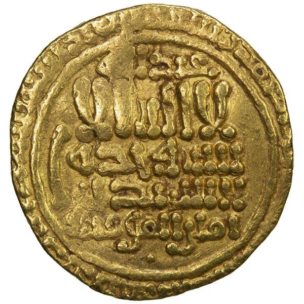 FATIMID: al-Mahdi, 909-934, AV dinar (4.17g), NM, AH316. VF
