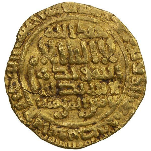 FATIMID: al-Mahdi, 909-934, AV dinar (4.15g), NM, AH332 (sic). VF