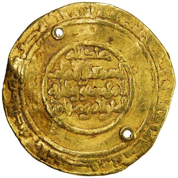 FATIMID: al-Mansur Isma'il, 946-953, AV dinar (4.01g), al-Mansuriya, AH339. VG-F