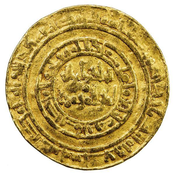 FATIMID: al-Hakim, 996-1021, AV dinar (4.15g), Misr, AH387. F-VF
