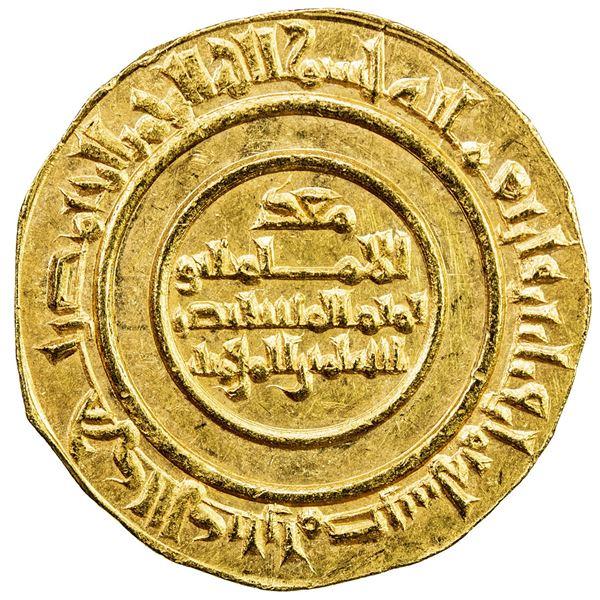 FATIMID: al-Mustansir, 1036-1094, AV dinar (4.20g), Misr, AH438. AU