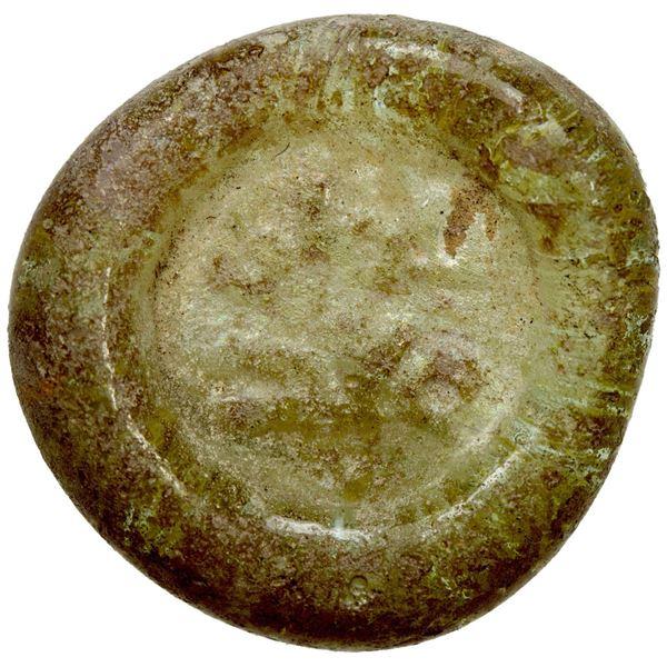 FATIMID: al-Mustansir, 1036-1094, glass jeton/weight (1.41g). VF