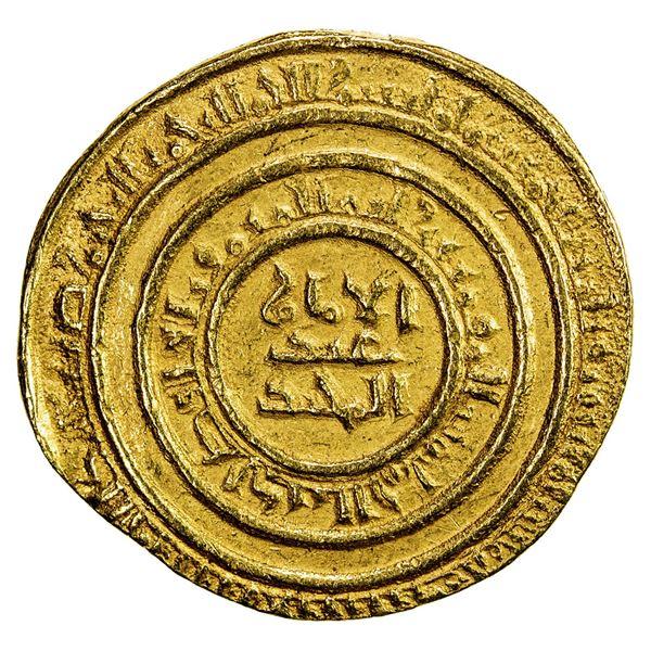 FATIMID: al-Hafiz, 1131-1149, AV dinar (4.31g), al-Iskandariya, AH532. VF