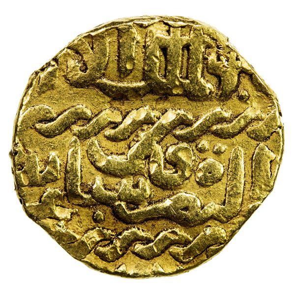 BURJI MAMLUK: Qa'itbay, 1468-1496, AV ashrafi (3.31g), NM, ND. VF