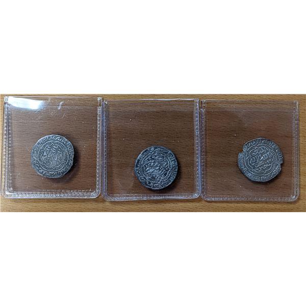 RASULID: al-Mansur 'Umar I, 1229-1249, LOT of 3 attractive silvers
