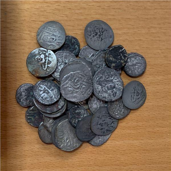 QASIMID: LOT of 46 silver dirhams