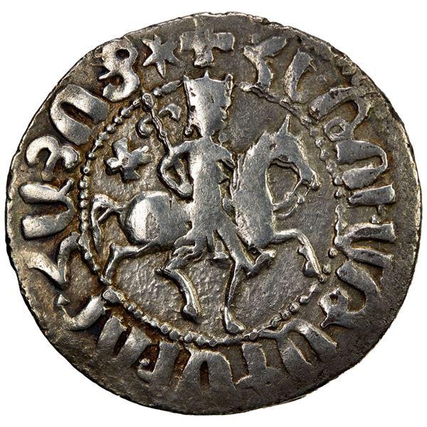 SELJUQ OF RUM: Kayqubad I, 1219-1236, AR bilingual tram (2.86g), NM, ND. EF